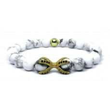 The Eagle Claw Beaded Bracelet - Gold