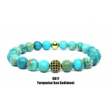Turquoise Sea Sediment Beaded Bracelet