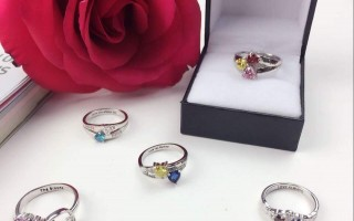 Personalized Engraving Birthstone Ring