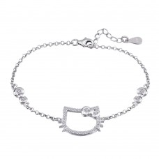 925 Silver Sterling Bracelet - Hello Kitty (SLS10)
