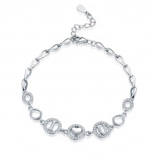 925 Silver Sterling Bracelet - I LOVE YOU (SLS11)