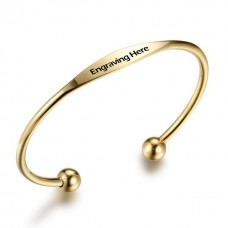 Personalized Engraving Stainless Steel Bracelet - Gold/Silver