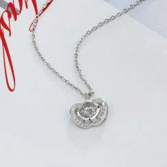Apple Dancing Stone Necklace 925 Sterling Silver (DDN11)