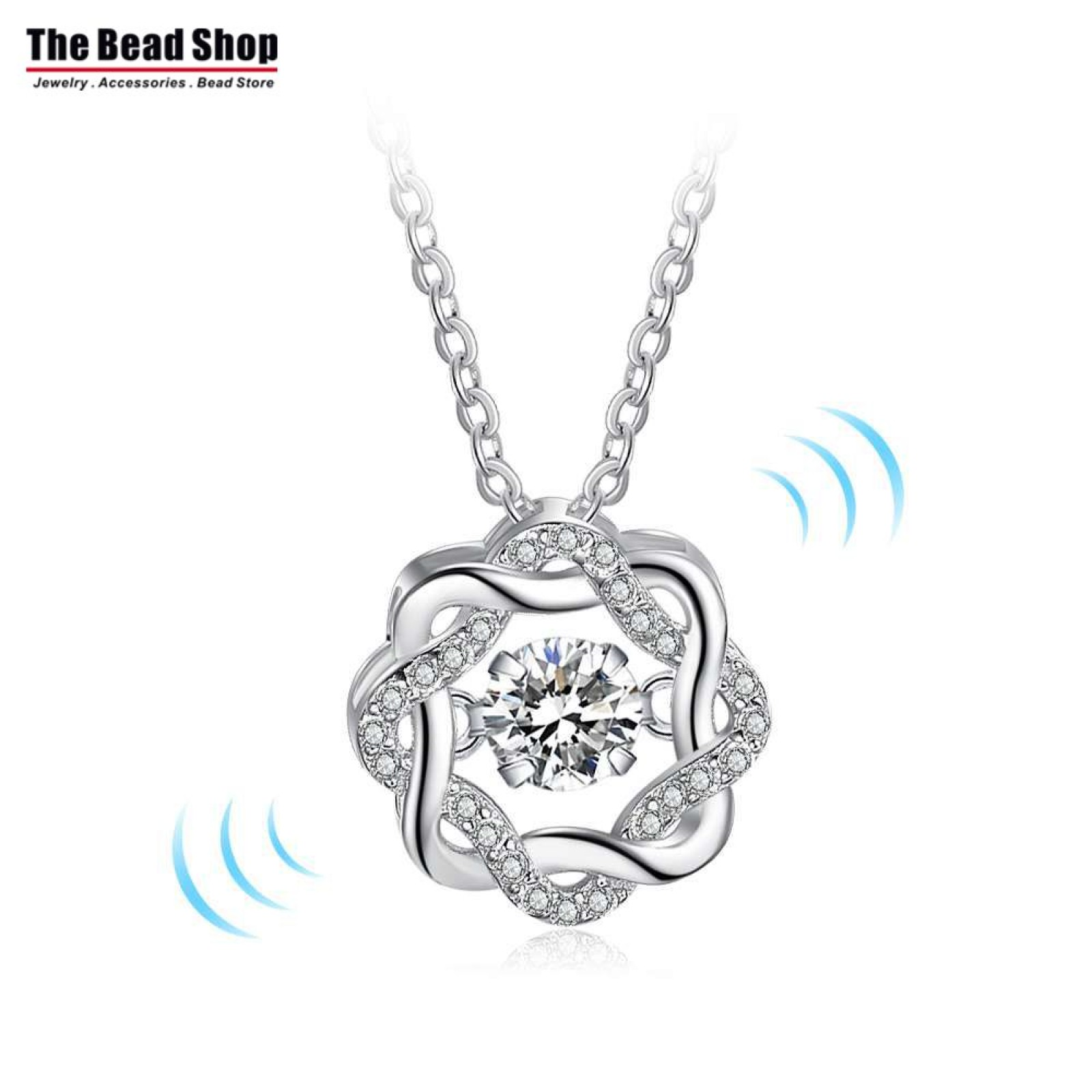 Blossom Dancing Stone Necklace 925 Sterling Silver (DDN22)