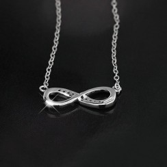 925 Silver Sterling Necklace - Infinite