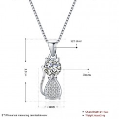 925 Silver Sterling Necklace - Double Love
