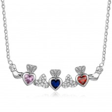My Princess Three Custom Birthstone Color Necklace