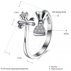 925 Silver Sterling Ring - Bow Tie Flower