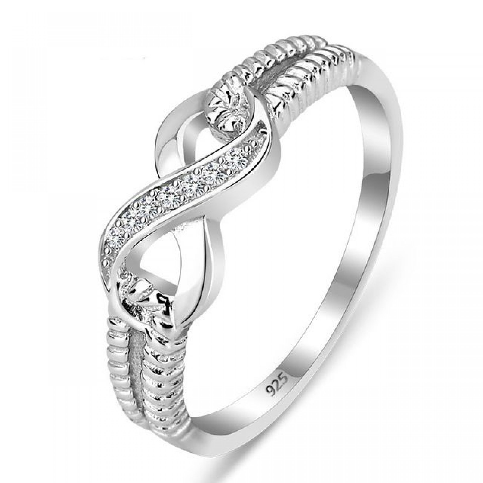 925 Silver Sterling Ring - CZ infinite