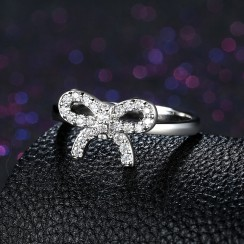 925 Silver Sterling Ring - Bow Tie