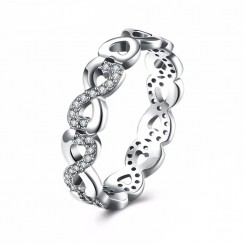 925 Silver Sterling Ring - CZ Infinity
