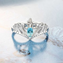 Classic Charming Crown Birthstone Ring